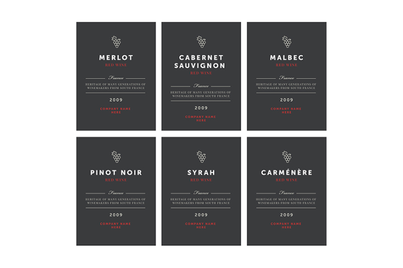red-wine-labels-vector-premium-template-set
