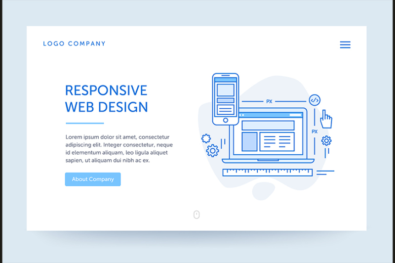 responsive-design-illustration-web-banner-blue-flat-line-style