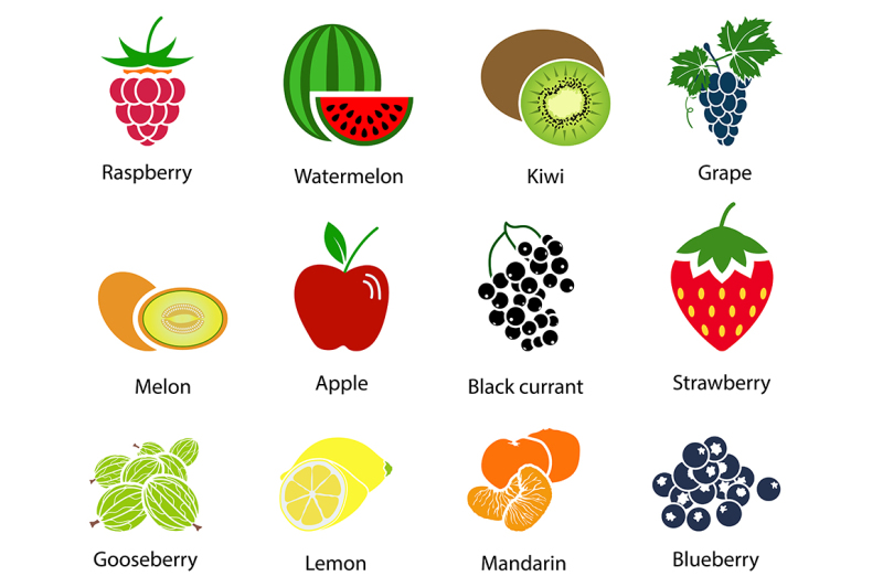 set-of-fruit-icons-with-title
