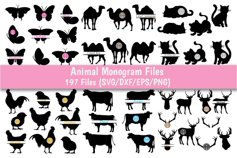 animal-monogram-svg-bundle-29-packs-with-197-files-for-each-format