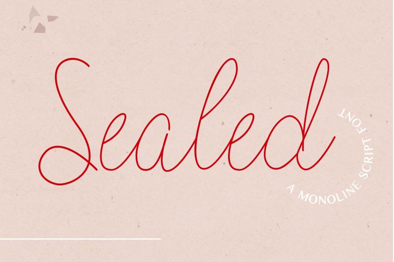 sealed-a-monoline-script-font