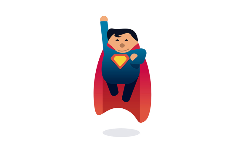 superhero-logo-concept-fat-character-flying-flat-style