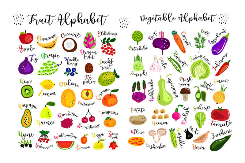 fruits-and-vegetables-vector-kit