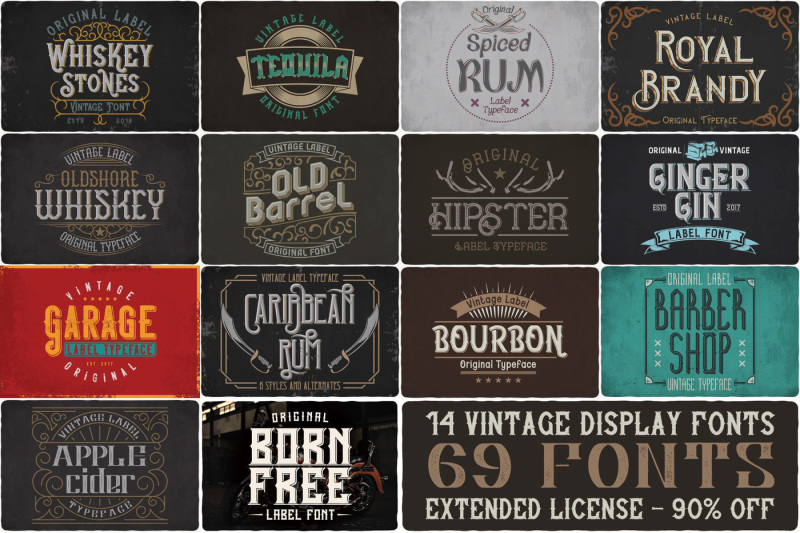 vintage-fonts-bundle
