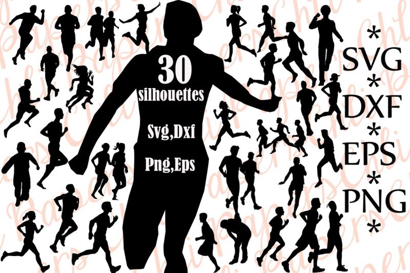 runner-silhouette-svg-runner-clipart-runner-cut-files-people