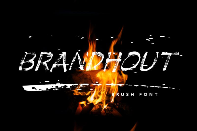 brandhout-brush-font