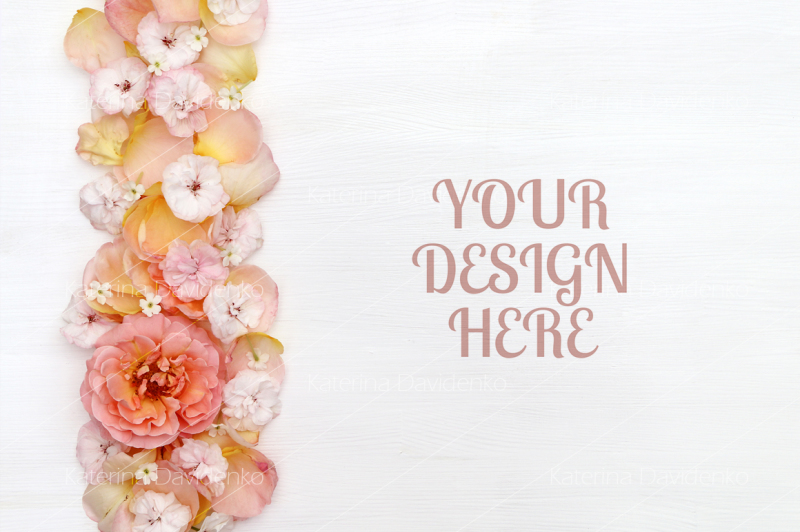 border-made-of-petals-white-background-flatlay-copy-space-top-view