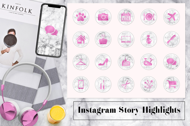 marble-and-pink-instagram-icons