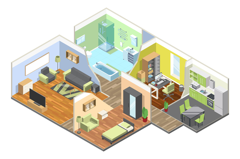 3d-interior-of-modern-house
