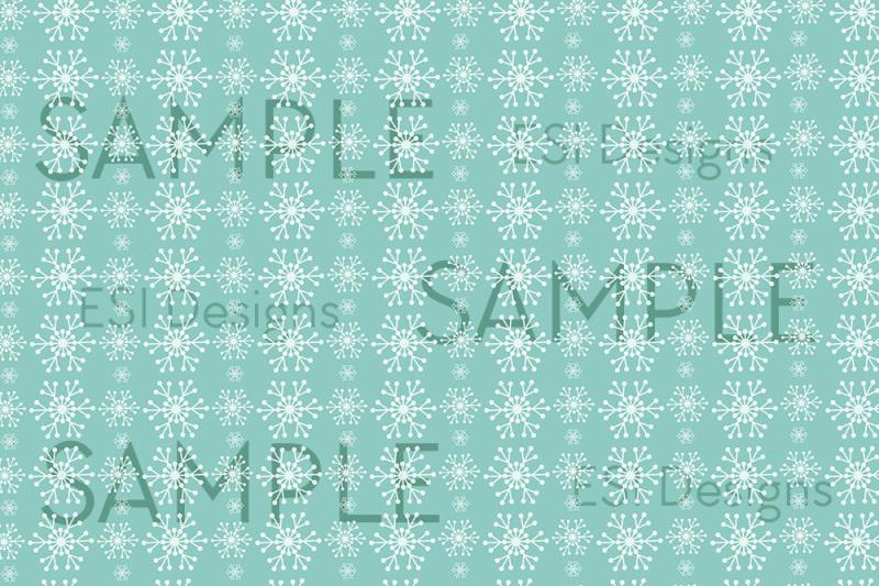 Winter Snowflakes Digital Paper Pack Jpeg 300dpi By Esi Designs Thehungryjpeg Com