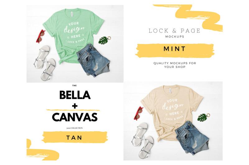 bella-canvas-3001-t-shirt-mockup-flat-lay-bundle-vol-2
