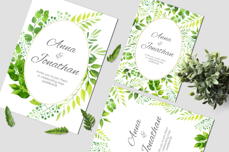 floral-wedding-invitations-vector-set