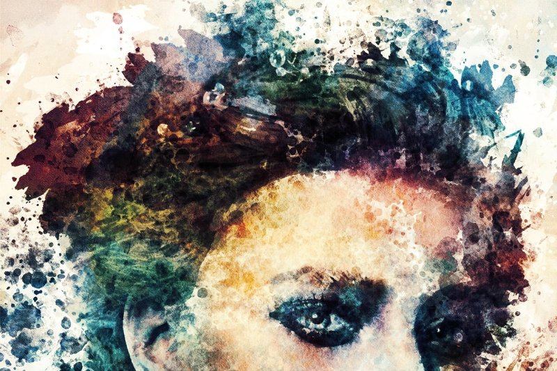 watercolor-portrait-photo-template