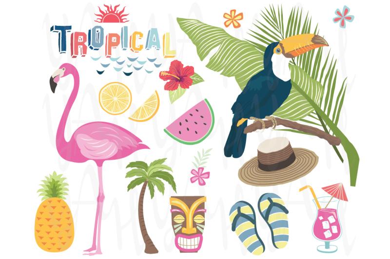 tropical-vector-elements