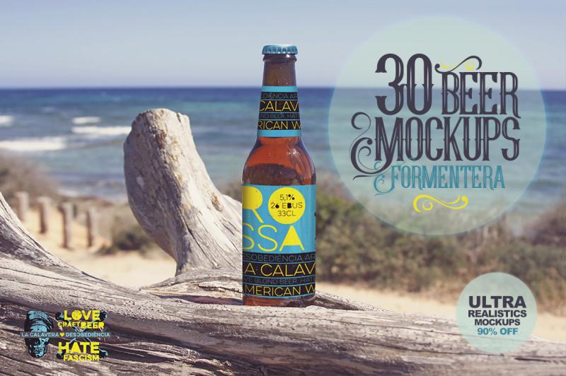Free 30 Beer Mockups in Formentera   -90% (PSD Mockups)