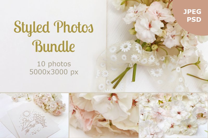 Free Styled photos bundle (PSD Mockups)