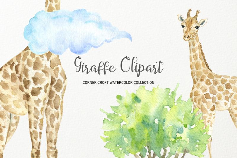 giraffe-clipart-watercolor-giraffe-family
