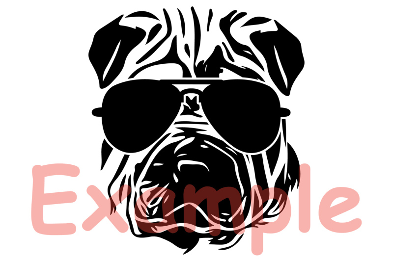 ffd4fb167562 Shar Pei Dog USA Flag Glasses Silhouette SVG 4th July Bulldog 858S ...