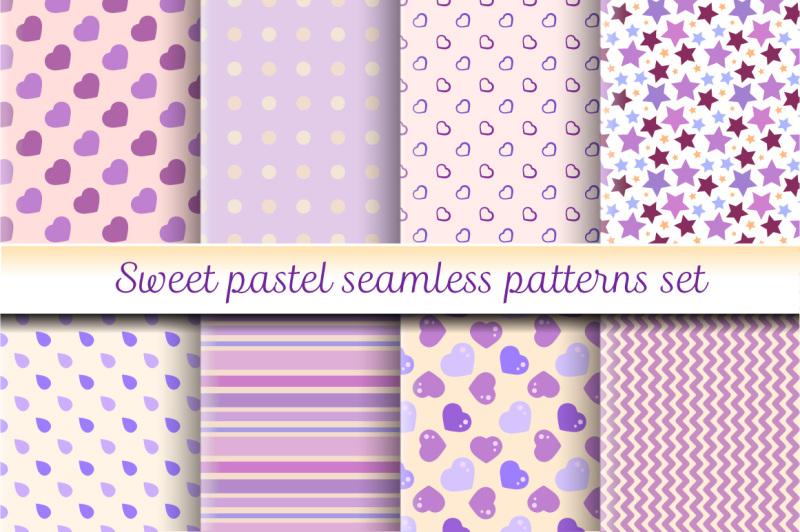 sweet-pastel-seamless-patterns-set