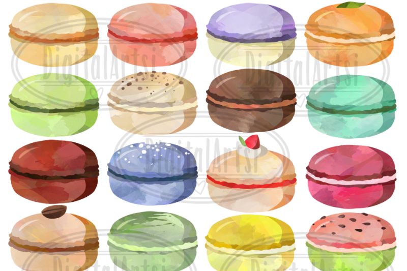 watercolor-macarons-clipart