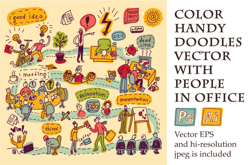 vector-with-funny-people-in-office
