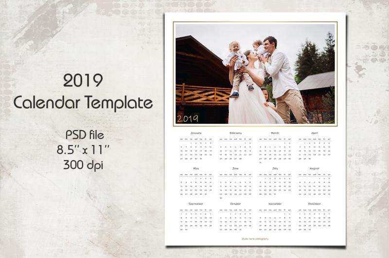 2019-calendar-template-8-5-x-11