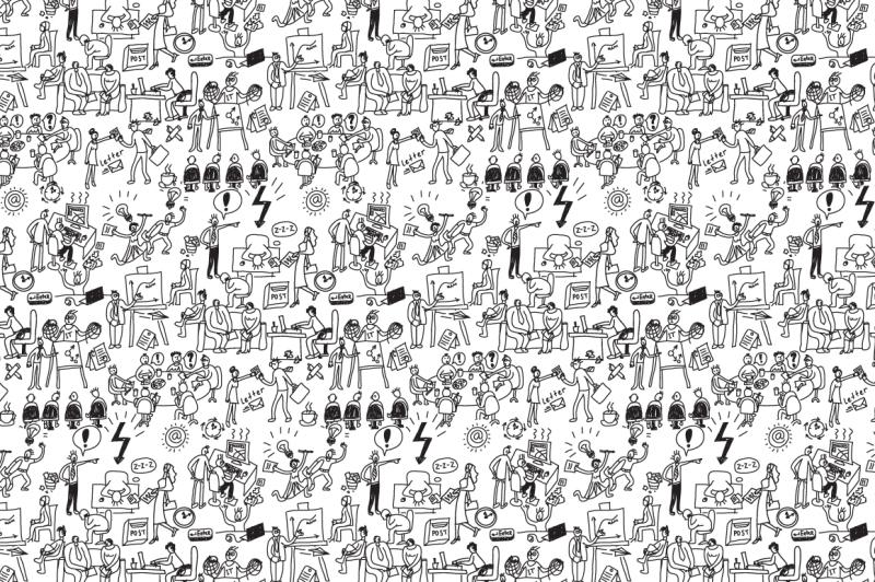 business-office-pattern-vector-set