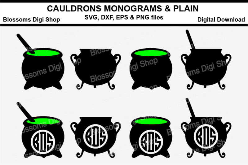 cauldron-plain-and-monogram-svg-eps-dxf-and-png-cut-files
