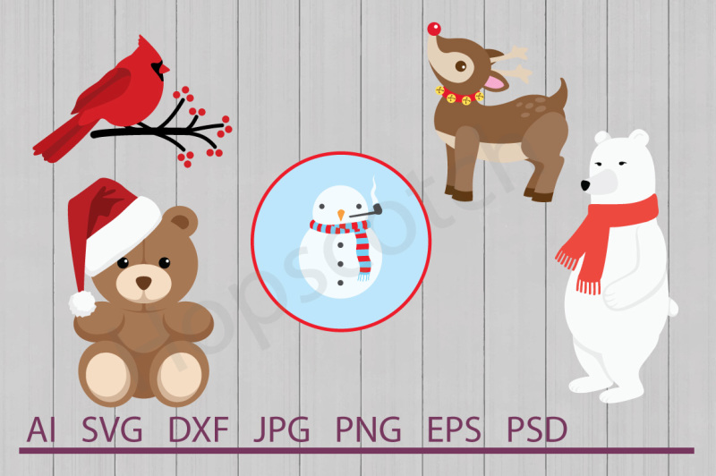 christmas-animal-bundle-svg-files-dxf-files-cuttable-files