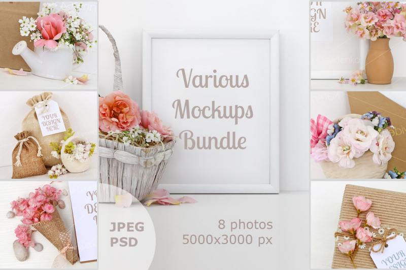 Free Mockups Bundle for your Graphics (PSD Mockups)
