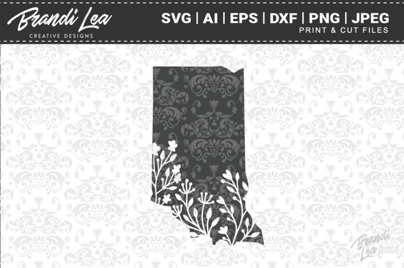 indiana-floral-state-map-svg-cutting-files