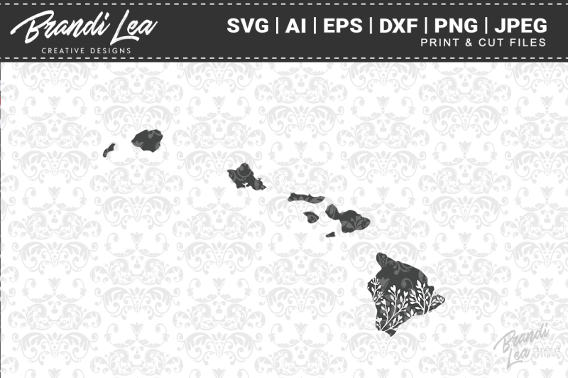 hawaii-floral-state-map-svg-cutting-files