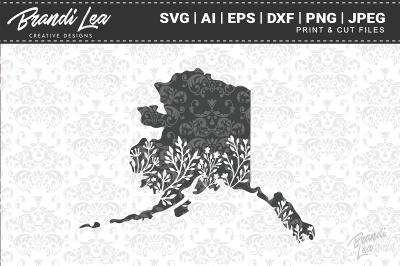 alaska-floral-state-map-svg-cutting-files
