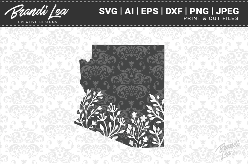 arizona-floral-state-map-svg-cutting-files