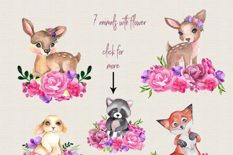 forest-friends-watercolor-clipart