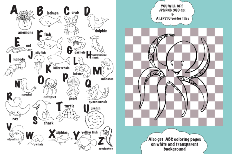 sea-animal-abc-amp-coloring-pages