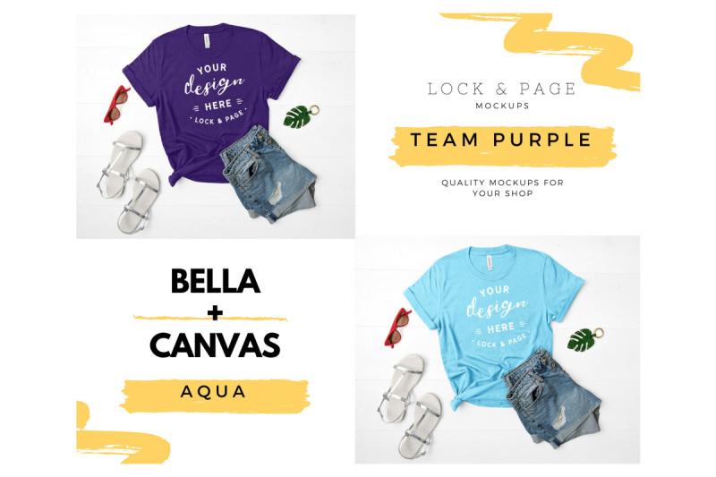 bella-canvas-3001-t-shirt-mockup-flat-lay-bundle-vol-14