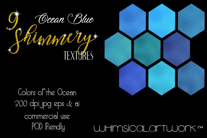 ocean-blue-shimmery-textures