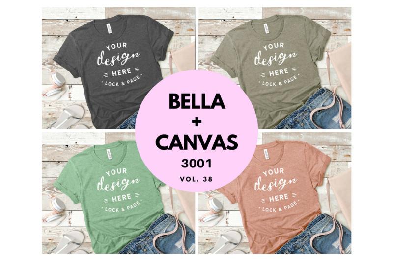 bella-canvas-3001-t-shirt-mockup-flat-lay-bundle-vol-38