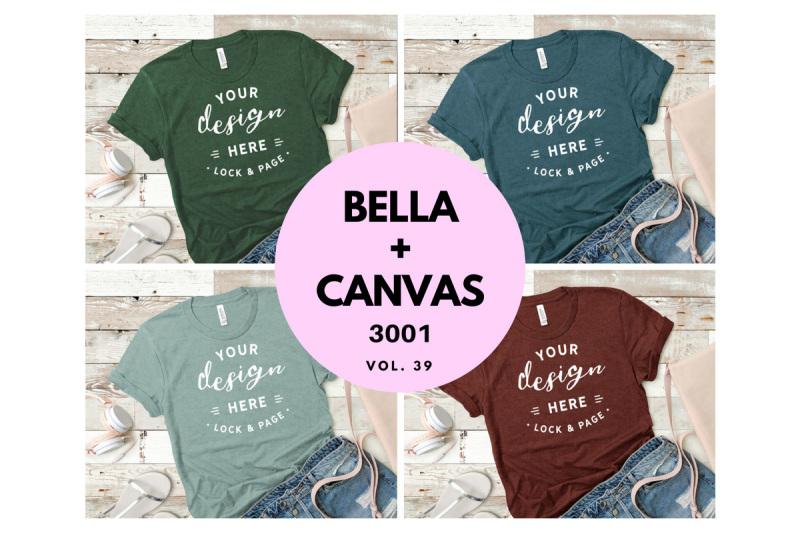 Free T Shirt Mockup Bundle Bella Canvas 3001 Vol. 39 (PSD Mockups)