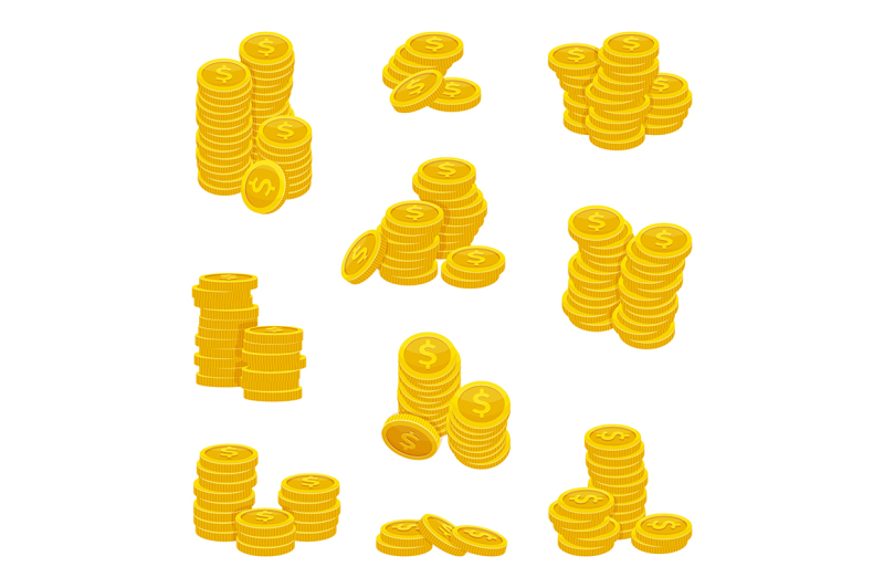 different-stacks-of-golden-coins