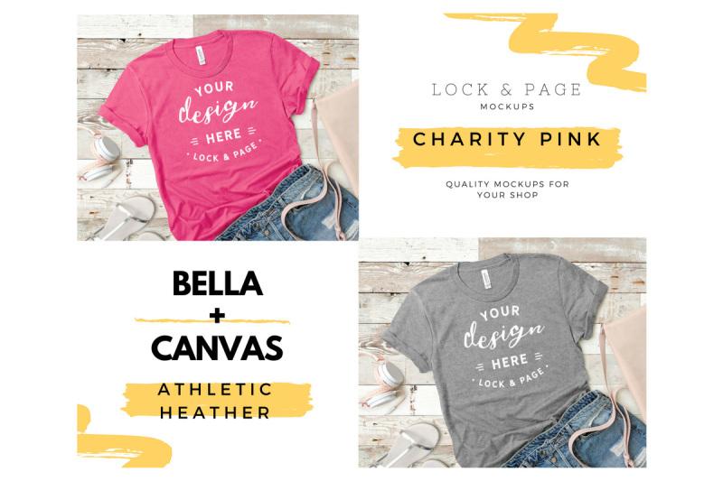 39d1fb0153f Tee Shirt Mockup Bundle Bella Canvas 3001 Summer Flat Lay Vol. 42 By ...