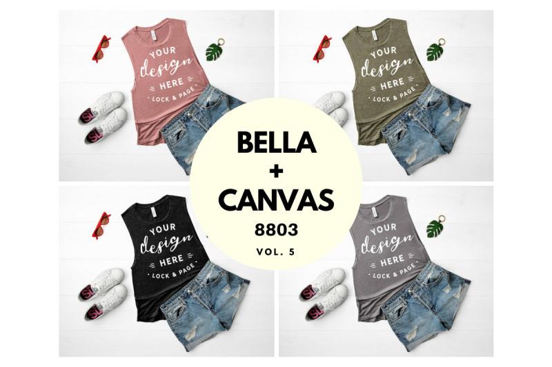 Free Women's Tank Top Mockup Bundle Bella Canvas 8803 Vol. 5 (PSD Mockups)
