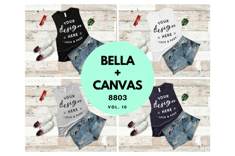 Free Women's Tank Top Mockup Bundle Bella Canvas 8803 Vol. 10 (PSD Mockups)