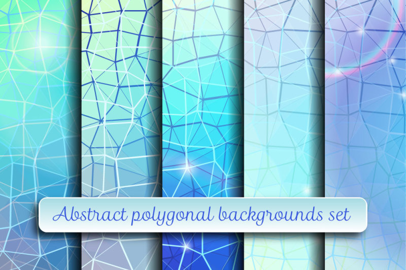 abstract-polygonal-backgrounds-set
