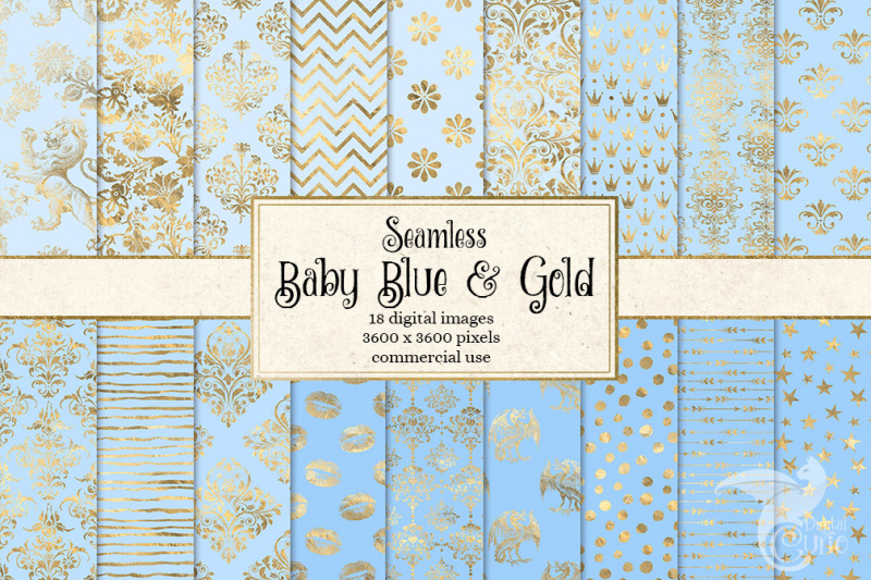 baby-blue-and-gold-digital-paper