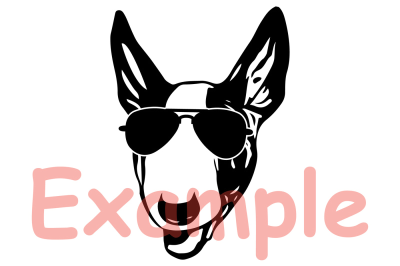 7b01fc6ad164 Bull Terrier Dog USA Flag Glasses Paw Silhouette SVG 4th July 862S ...