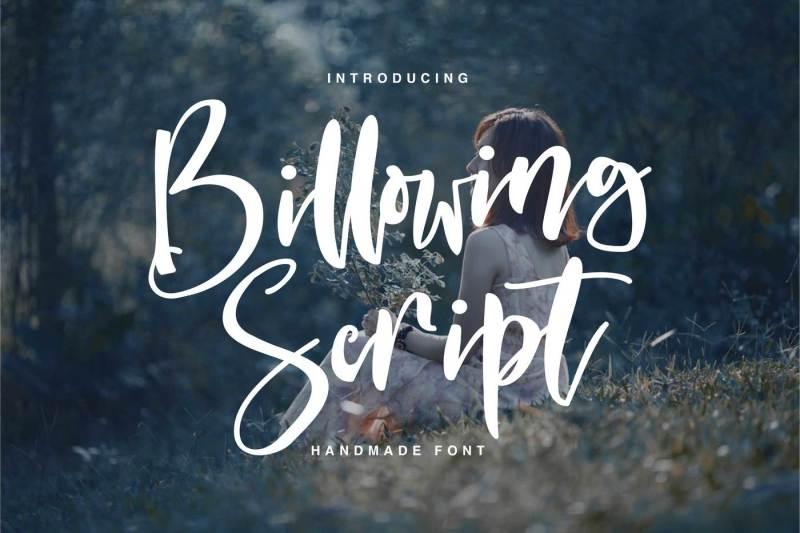 billowing-script