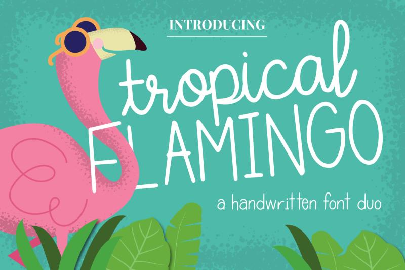 tropical-flamingo-font-duo