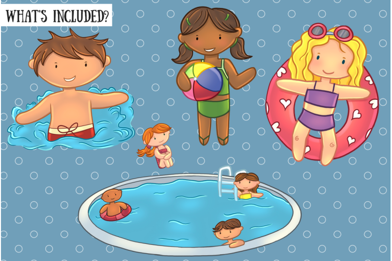 pool-party-clip-art-collection